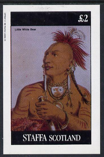 Staffa 1982 N American Indians #02 imperf deluxe sheet unmounted mint (�2 value)