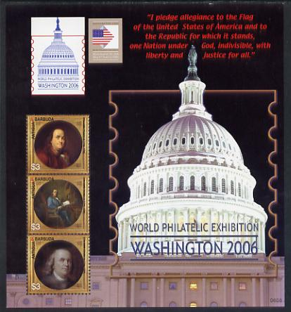 Antigua 2006 Washington International Stamp Exhibition perf sheetlet (Capitol Dome) unmounted mint, SG MS3975B