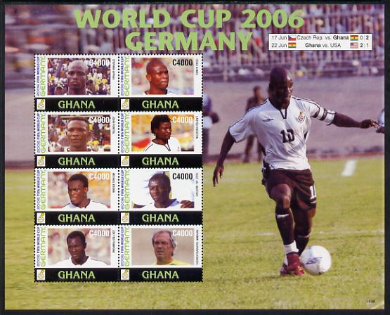 Ghana 2006 Football World Cup perf sheetlet containing 8 values unmounted mint, SG 3560-67
