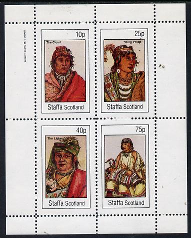 Staffa 1982 N American Indians #04 perf set of 4 values unmounted mint
