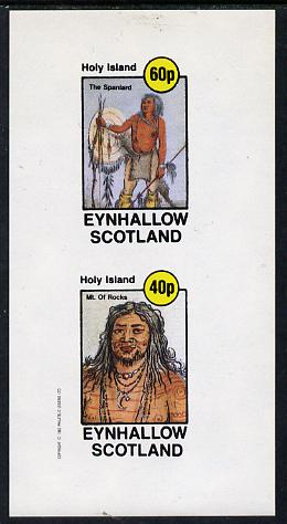 Eynhallow 1982 N American Indians imperf set of 2 values unmounted mint