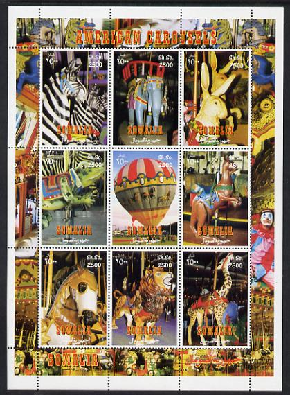 Somalia 2000 Circus perf sheetlet containing 9 values unmounted mint. Note this item is privately produced and is offered purely on its thematic appeal