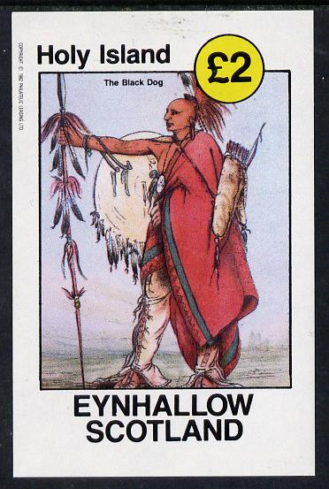 Eynhallow 1982 N American Indians imperf deluxe sheet unmounted mint (�2 value)
