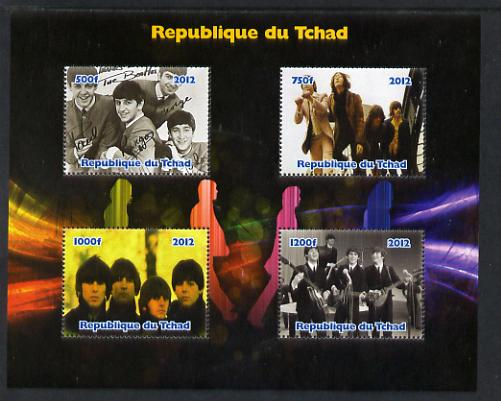 Chad 2012 The Beatles #1 perf sheetlet containing 4 values unmounted mint. Note this item is privately produced and is offered purely on its thematic appeal.