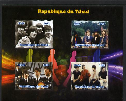 Chad 2012 The Beatles #2 perf sheetlet containing 4 values unmounted mint. Note this item is privately produced and is offered purely on its thematic appeal.