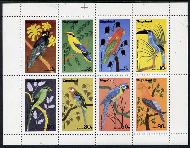 Nagaland 1978 Birds (Parrots etc) perf set of 8 values (2c to 80c) unmounted mint