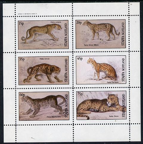 Staffa 1982 Animals (Big Cats) perf set of 6 values (15p to 75p) unmounted mint