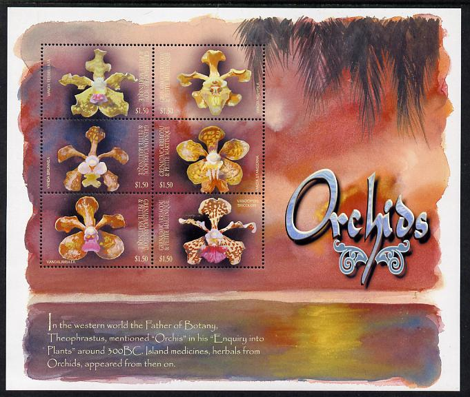 Grenada - Grenadines 2001 Orchids perf sheetlet containing 6 values unmounted mint SG 3422-27