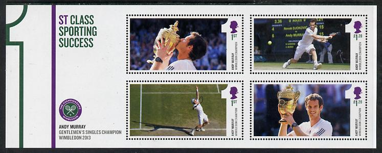 Great Britain 2013 Andy Murray - 1st Class Sporting Success perf m/sheet unmounted mint
