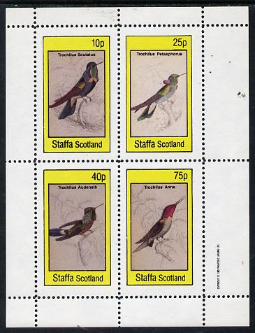Staffa 1982 Humming Birds #06 perf  set of 4 values (10p to 75p) unmounted mint