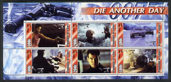 Guinea - Conakry 2003 James Bond - Die Another Day #1 perf sheetlet containing 6 values unmounted mint