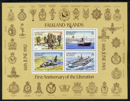 Falkland Islands 1983 First Anniversary of Liberation perf m/sheet unmounted mint SG MS458