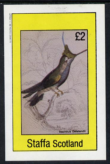 Staffa 1982 Humming Birds #06 imperf deluxe sheet (�2 value) unmounted mint